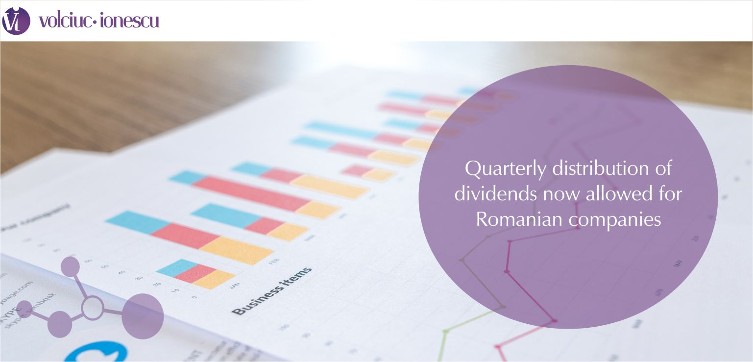 Quarterly distribution of dividends now allowed for Romanian companies