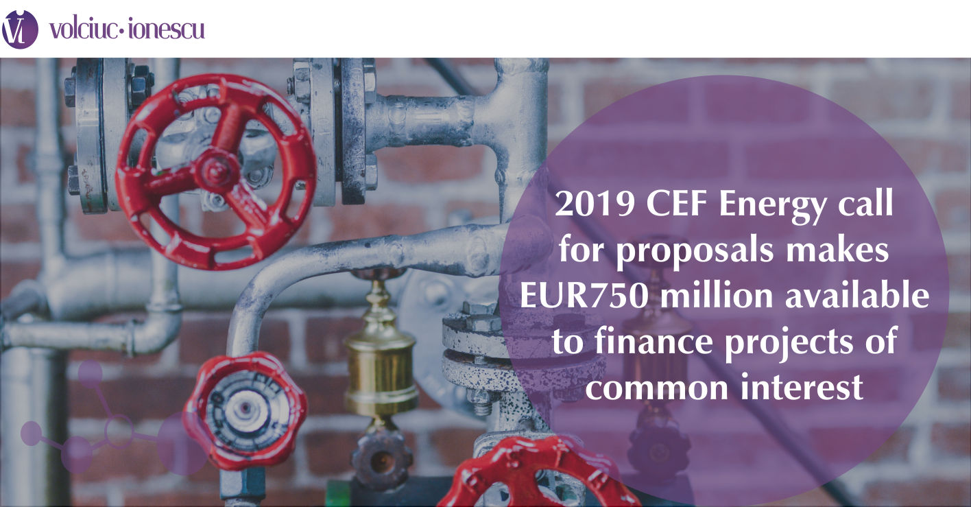 2019 CEF Energy call for proposals makes €750 million available to finance projects of common interest