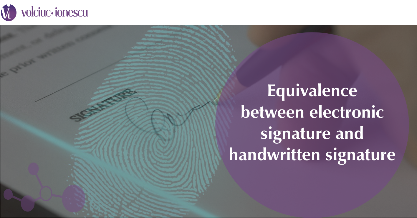 Equivalence between electronic signature and handwritten signature