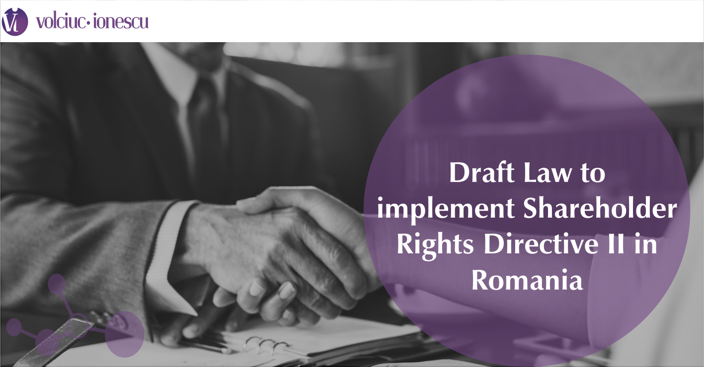 Draft Law to implement Shareholder Rights Directive II in Romania