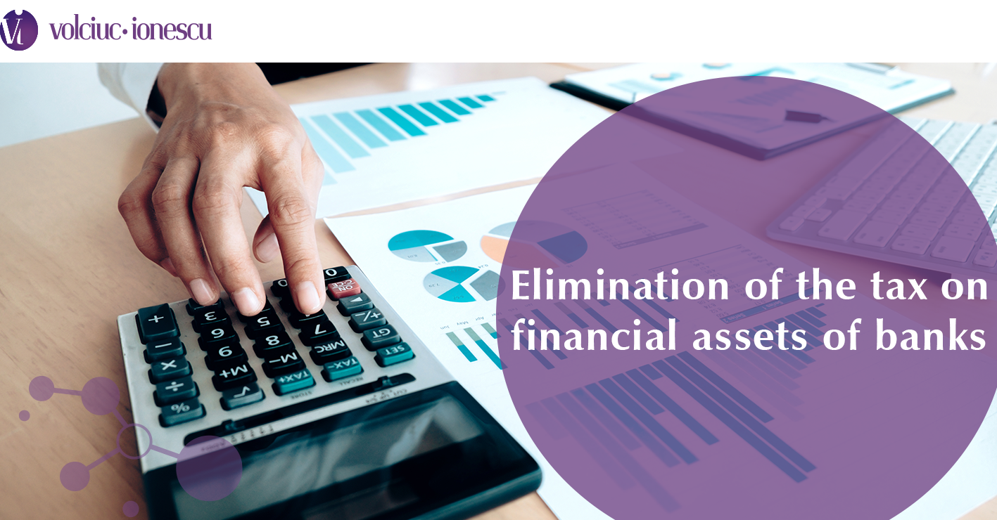 Elimination of the tax on financial assets of banks