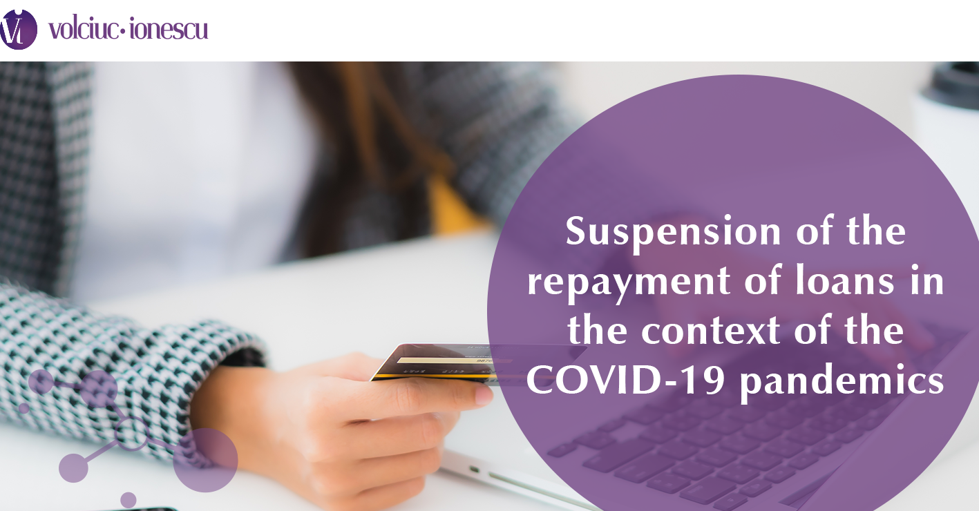 Suspension of the repayment of loans in the context of the COVID-19 pandemics