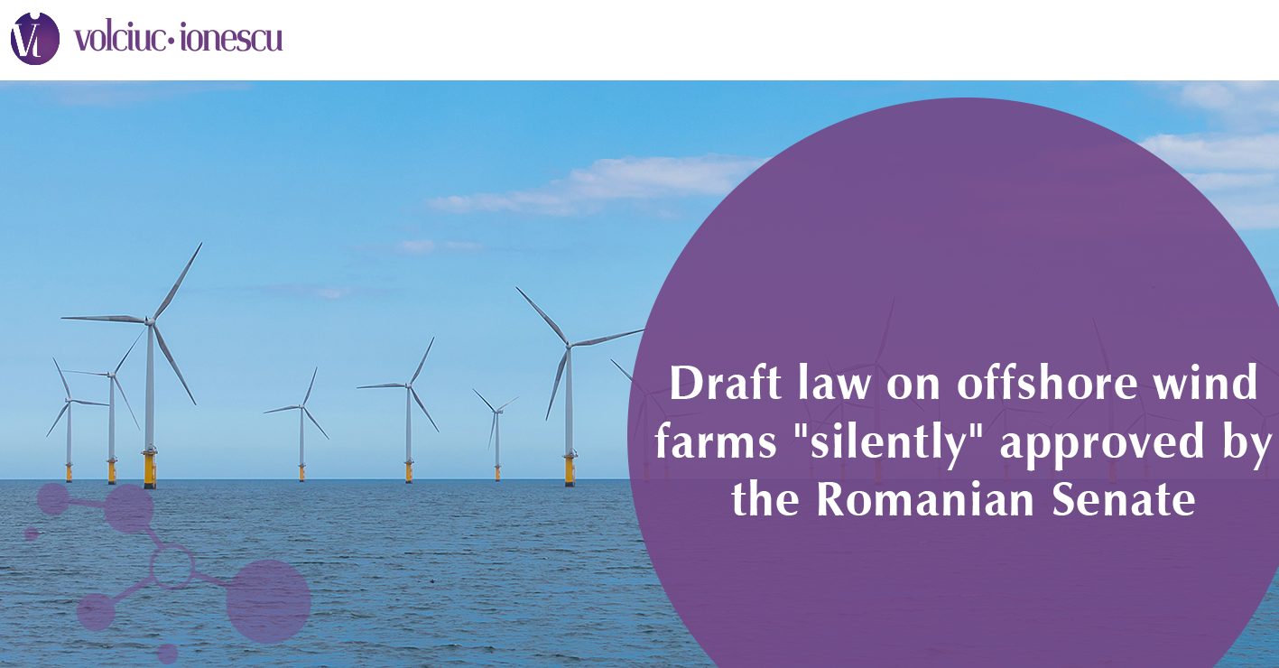"Draft law on offshore wind farms ""silently"" approved by the Romanian Senate"