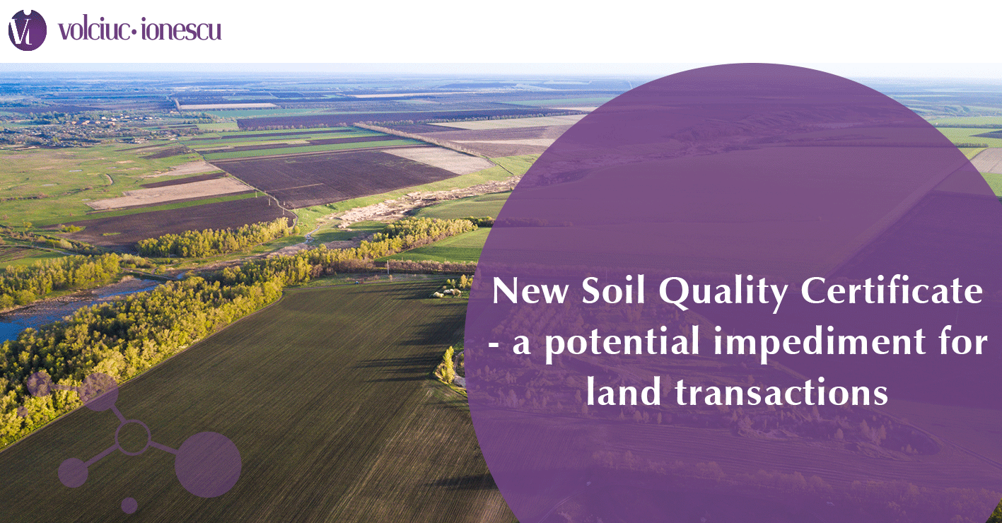 New Soil Quality Certificate – a potential impediment for land transactions